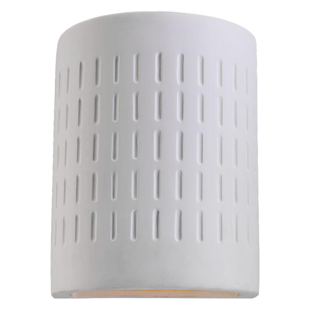 Paintable Ceramic Sconce Collection Mini 1 Light Unfinish Outdoor 10 In Wall Mount
