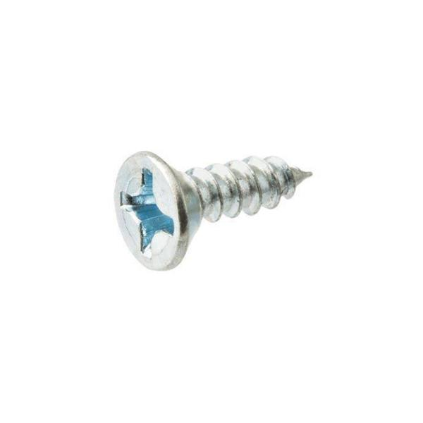 #8 x 3/4 in. Phillips Flat Head Zinc Plated Wood Screw (100-Pack)