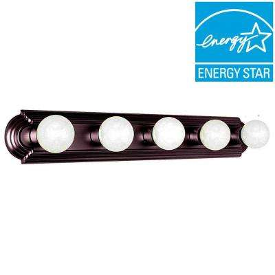 Tieben 5-Light Oil Rubbed Bronze Bath Vanity Light