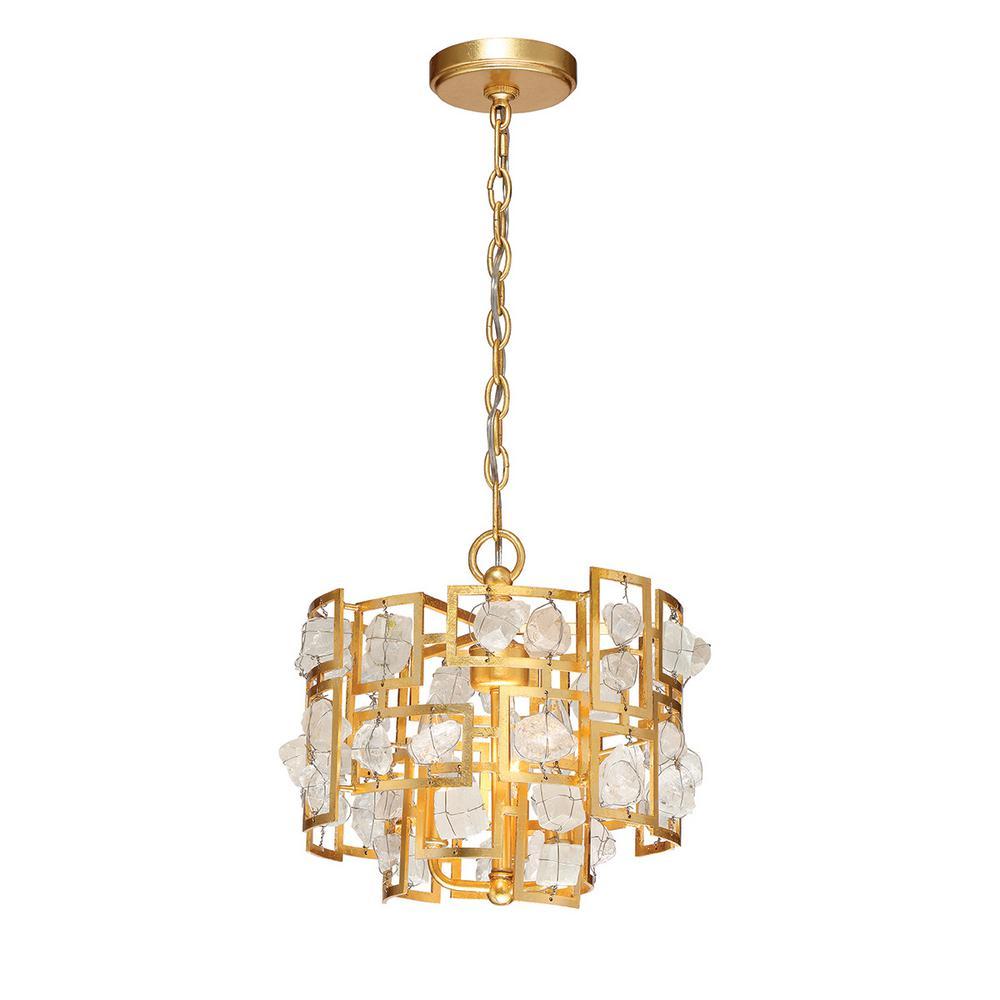 Elrose Collection 3-Light Gold Pendant