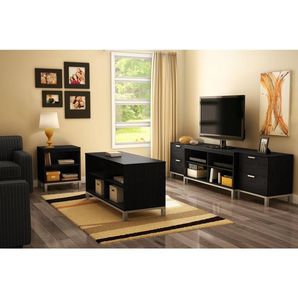 Living Room Drawers. South Shore Flexible 2 Drawer Black Oak Nightstand 3347060  The