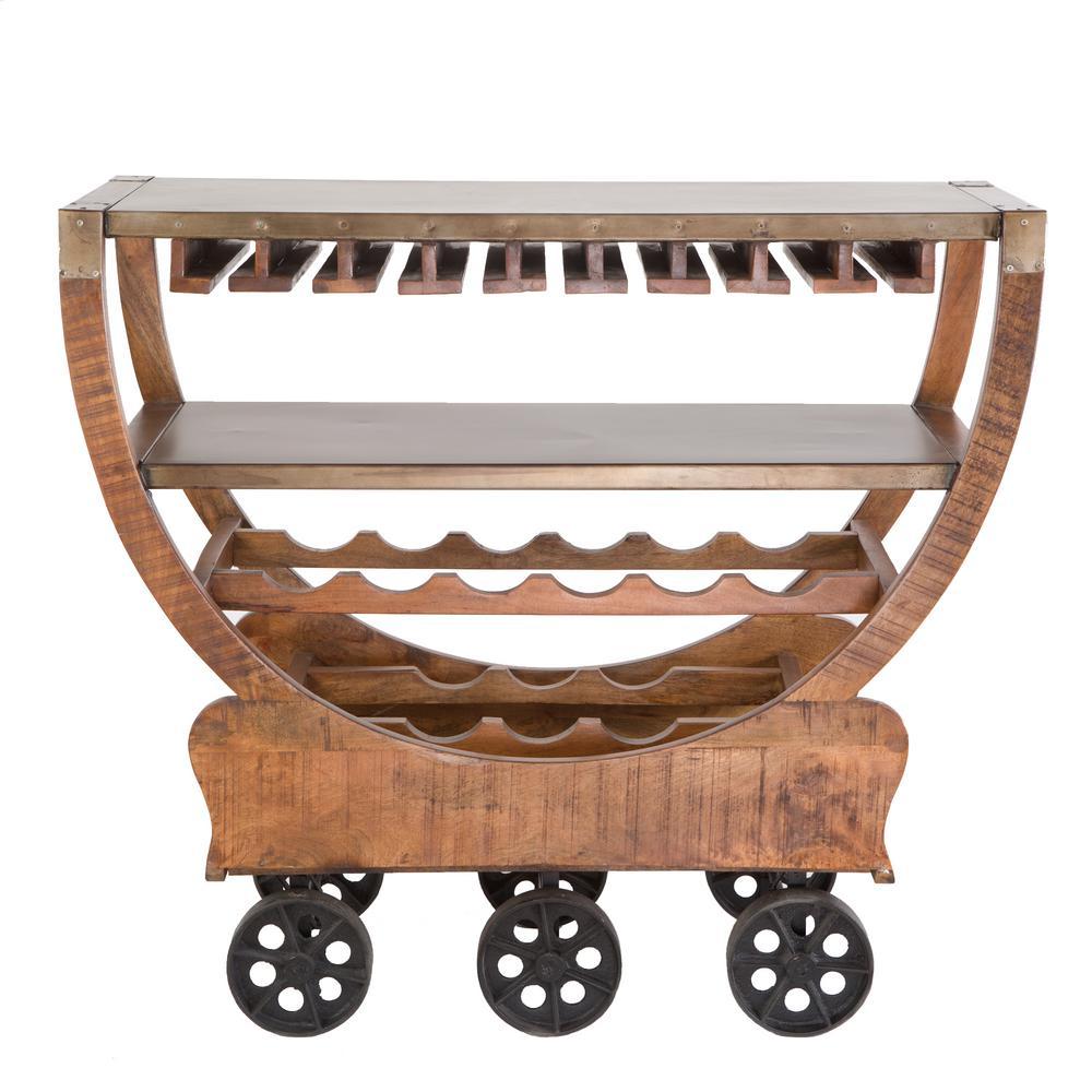 Yosemite Home Decor Lite Coffee Wine Cart With Storage Yfur Va6107
