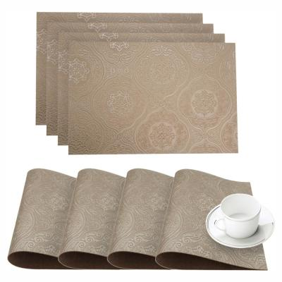 Hyde Park Latte Faux Leather Placemat (Set of 4)