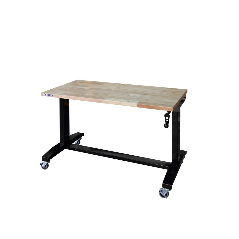 Husky 46 In Adjule Height Work Table Holt46xdb12 The