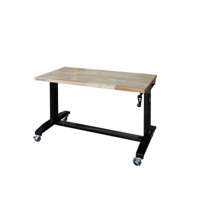 Husky 46 in  Adjustable Height Work Table – Home Depot