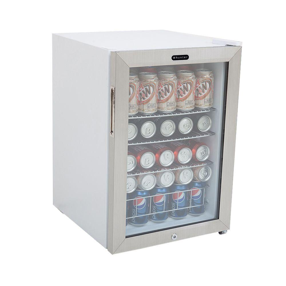 Whynter 19 In 90 12 Oz Can Cooler With Lock Br 091ws