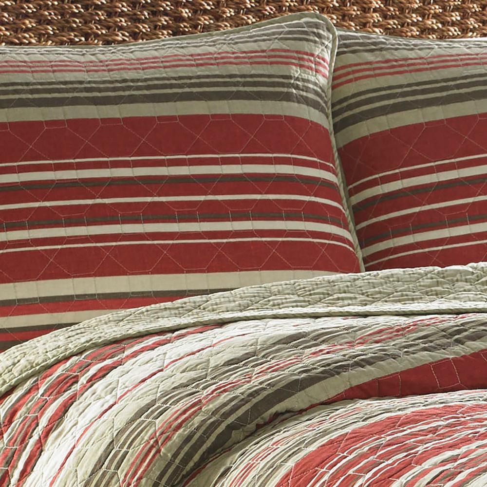 Eddie Bauer Yakima Valley Red Full/Queen Quilt Set (3-Piece)