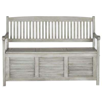 Brisbane 2-Person Grey Wood Outdoor Bench