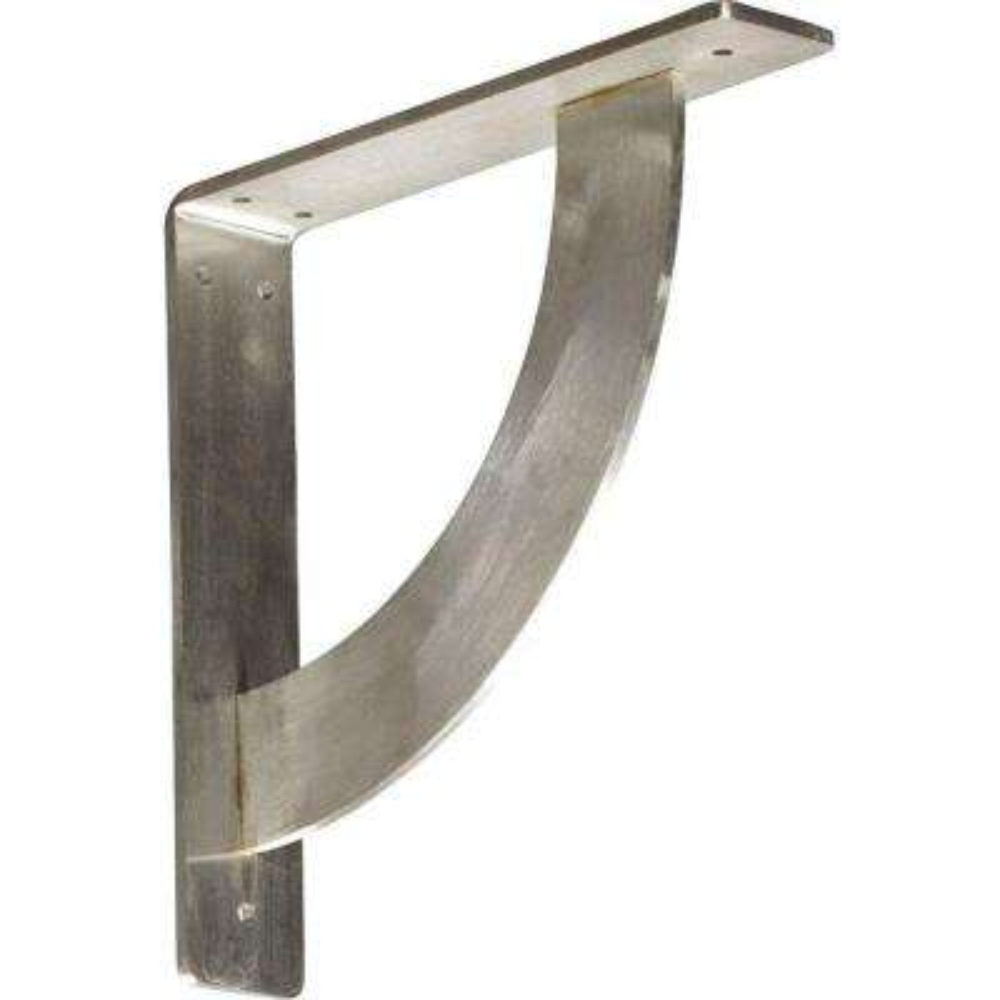 10 in. x 2 in. x 10 in. Stainless Steel Unfinished Metal Bulwark Bracket