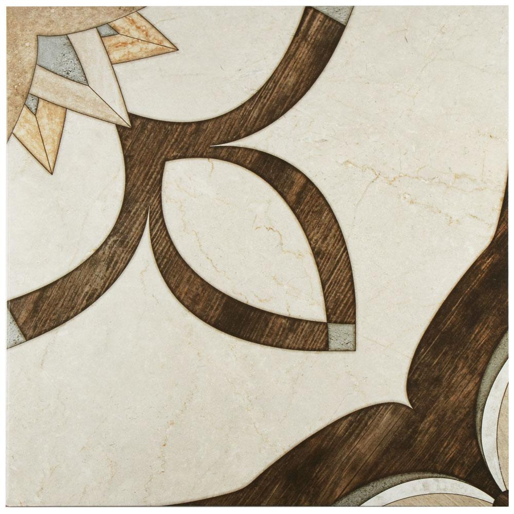 Merola Tile Argos Natural 17-3/4 in  x 17-3/4 in  Ceramic Floor and Wall  Tile (22 5 sq  ft  / case)