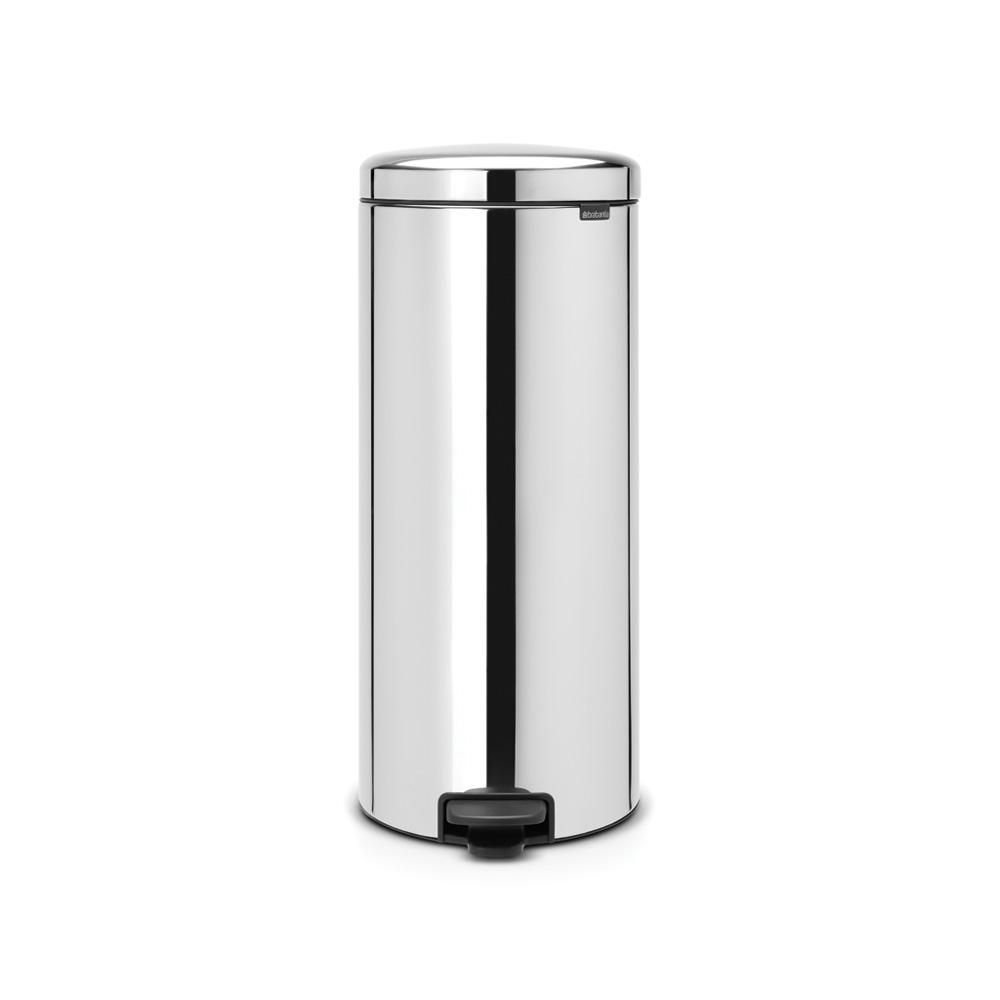 8 Gal. Brilliant Steel Step-On Trash Can
