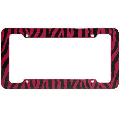 Zebra Red and Black License Plate Frame