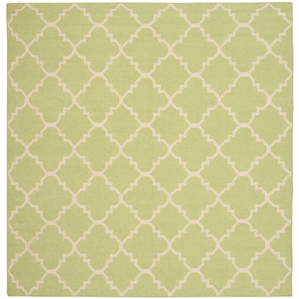 Safavieh Dhurries Light Green/Ivory 6 Ft. X 6 Ft. Square Area Rug