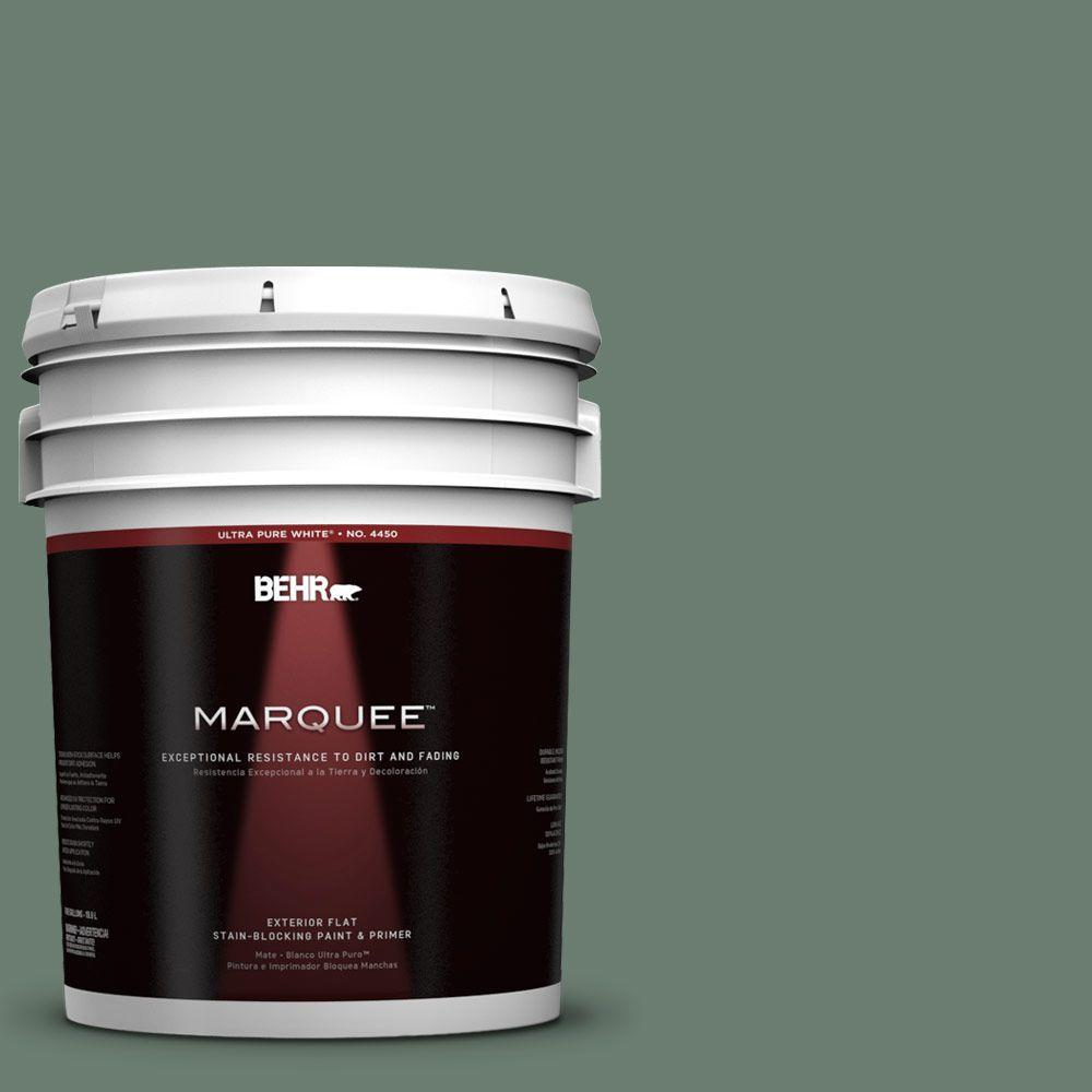 BEHR MARQUEE 5-gal. #460F-5 Island Palm Flat Exterior Paint