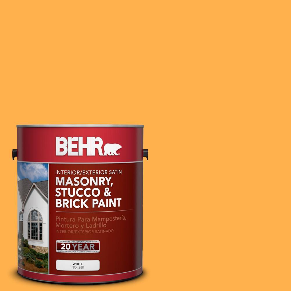 1 gal. #P250-6 Splendor Gold Satin Interior/Exterior Masonry, Stucco and Brick Paint