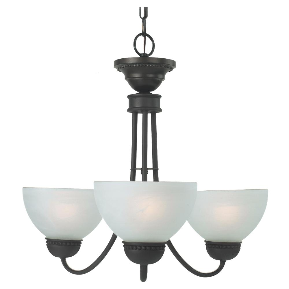 sea gull lighting westlake 3 light oil rubbed bronze chandelier with frosted glass shades rmc400. Black Bedroom Furniture Sets. Home Design Ideas