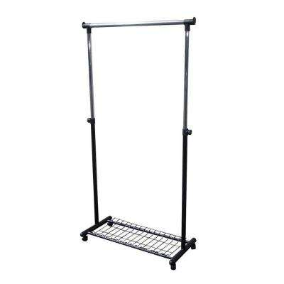 16 in. x 62 in. Coat Hanger Portable Wardrobe with Wheels