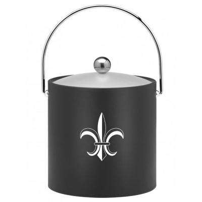 Kasualware Fleur de Lis 3 Qt. Ice Bucket in Black