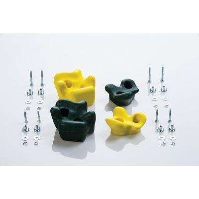 Climbing Rocks (4-Pack) - Green & Yellow