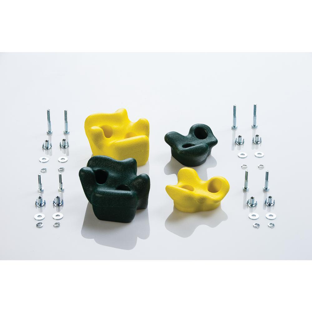 Climbing Rocks (4-Pack) - Green & Yellow