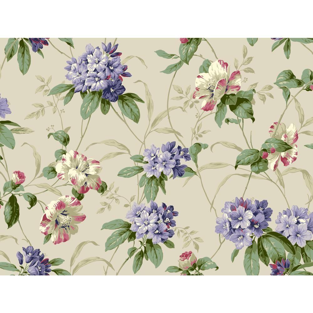 Casabella II Rhododendron Floral Wallpaper