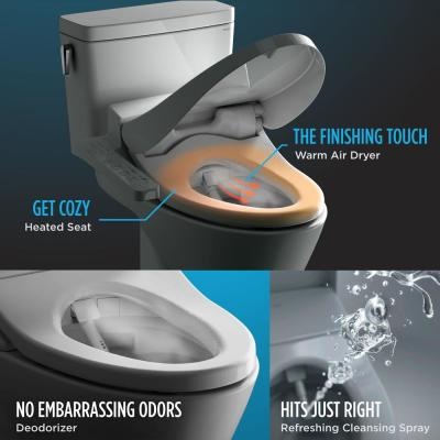 C100 WASHLET Electric Bidet Seat for Elongated Toilet in Cotton White