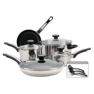 Farberware High Performance 12-Piece Stainless Steel Cookware Set with Lids by Farberware