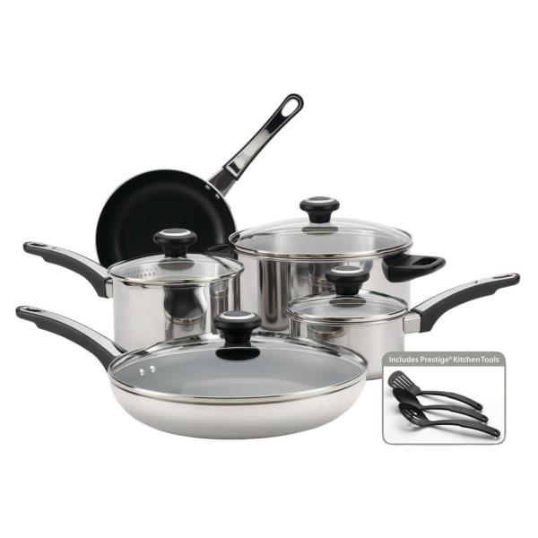 High Performance 12-Piece Stainless Steel Cookware Set with Lids