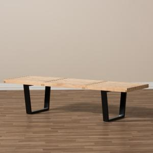 Baxton Studio-Nelson Natural Bench