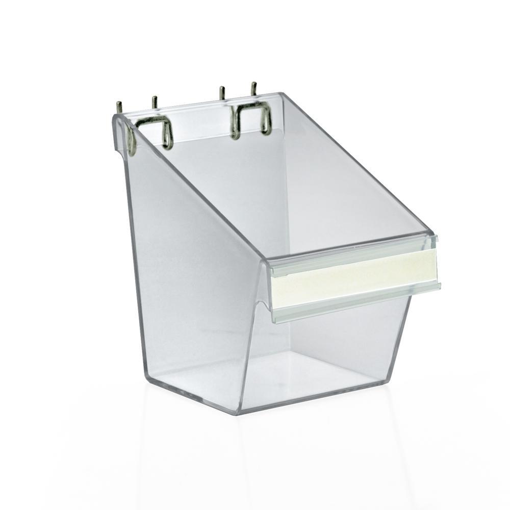 5 in. W x 6 in. D x 7 in. H Crystal Styrene Display Bucket (4-Pack)