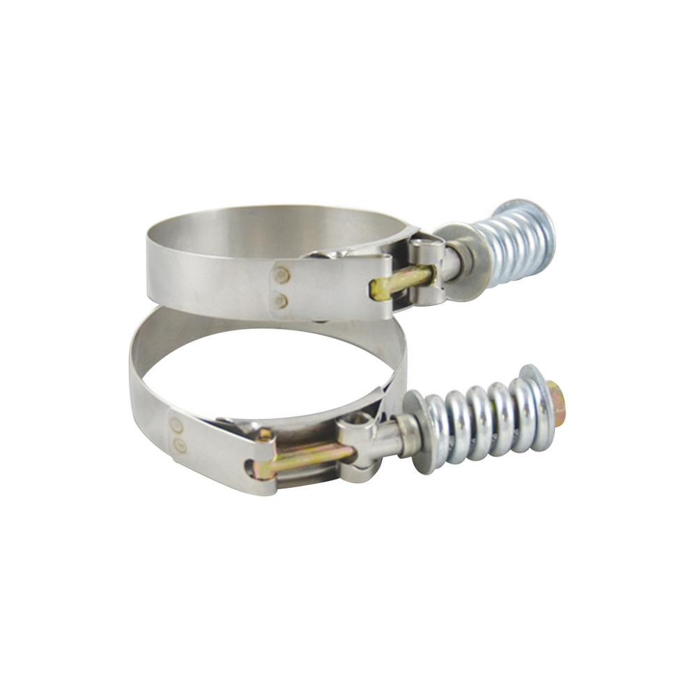 Vibrant Performance SS T-Bolt Clamps Pack of 2 Size Range: 5 28in to 5 58in  OD For use w/ 5in ID Coupling