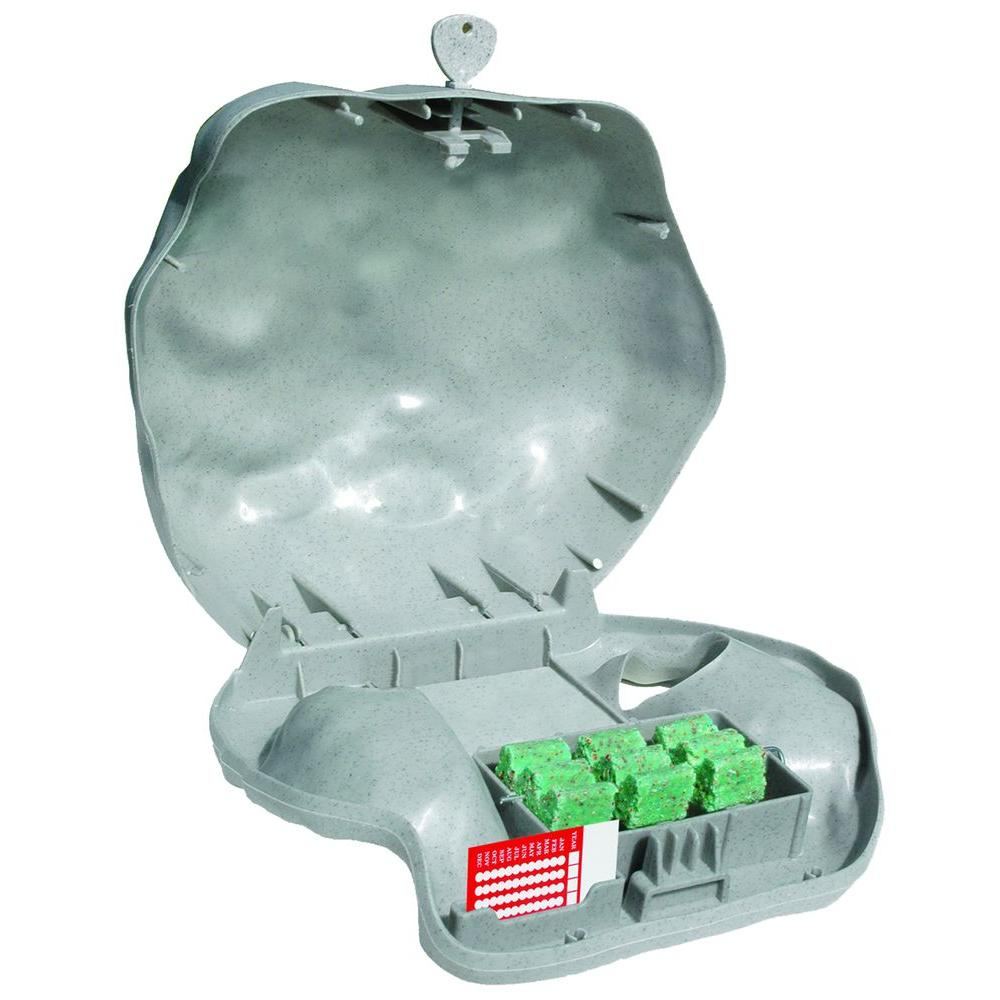 Rodent Landscape Granite Rock Bait Station with Solid Lid for Mice
