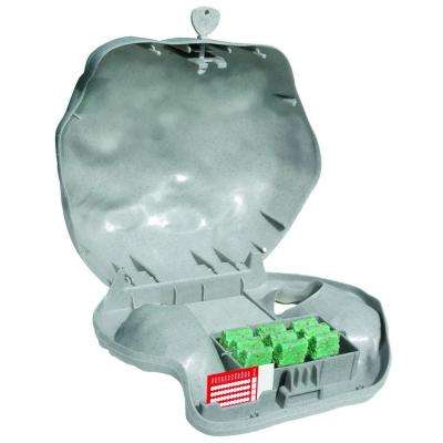 Rodent Landscape Granite Rock Bait Station with Solid Lid for Mice and Rats (4-Pack)