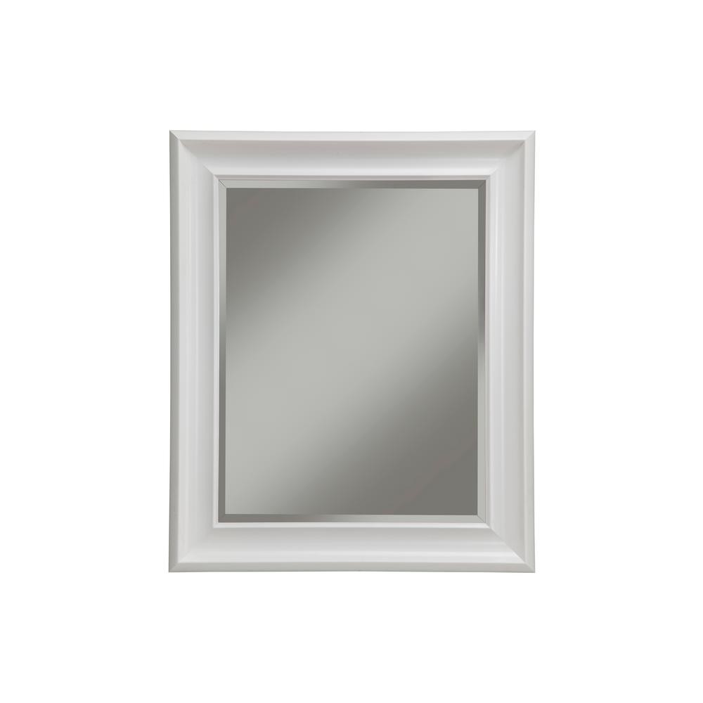 Sandberg Furniture White Decorative Wall Mirror-13017 - The Home Depot