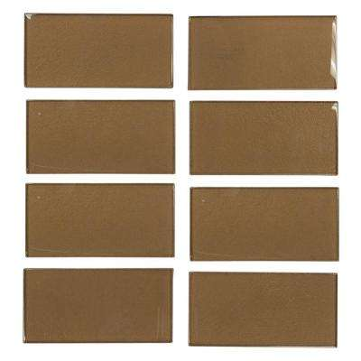 Lava Cake Cold Spray 3 in. x 6 in. x 8 mm Glass Wall Tile