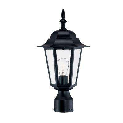 Camelot 1-Light Matte Black Outdoor Post-Mount Fixture
