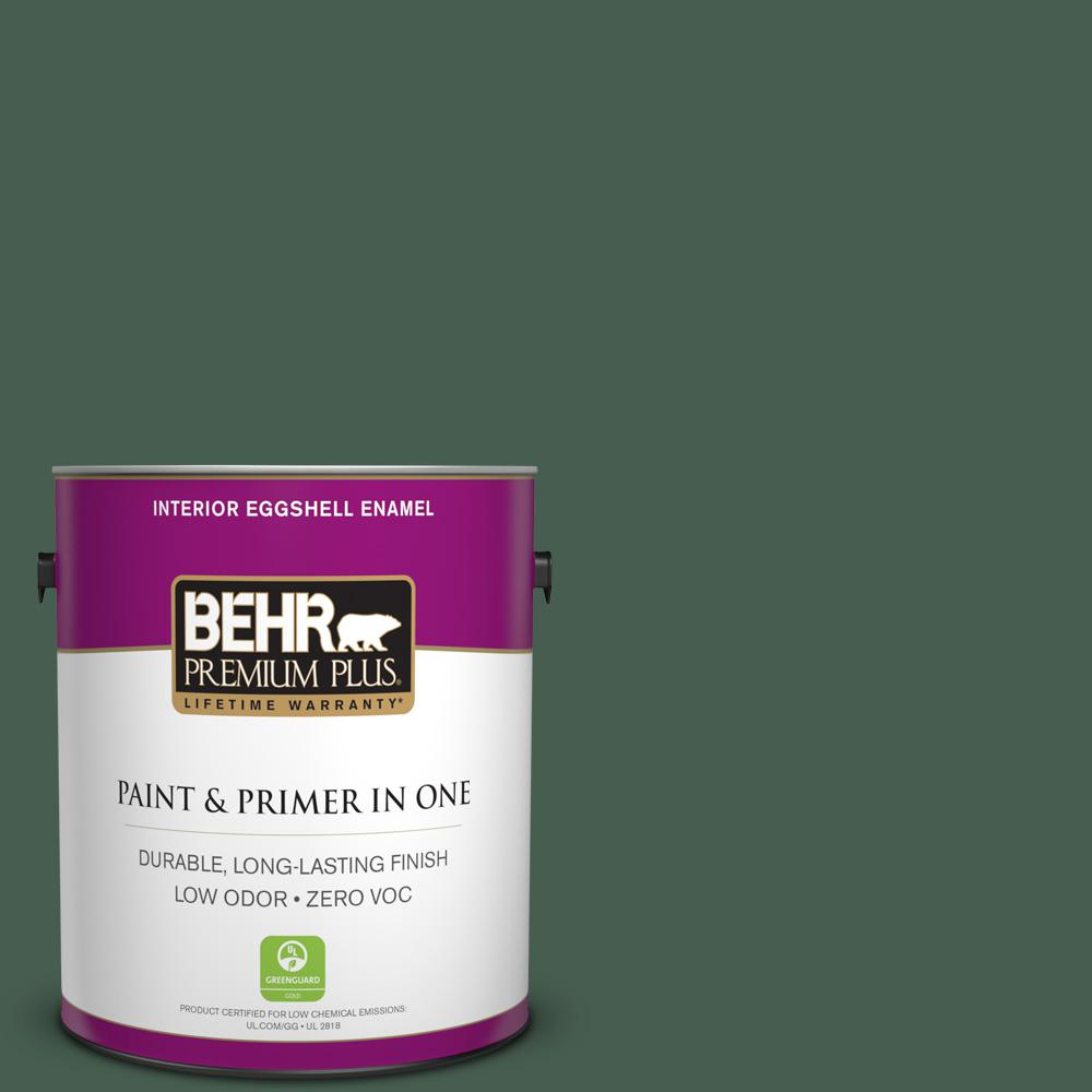 1-gal. #N400-7 Vine Leaf Eggshell Enamel Interior Paint