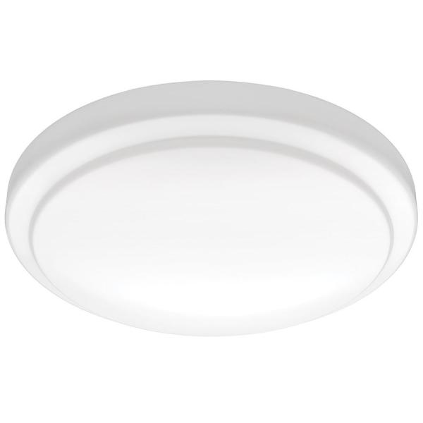12 in. Round Dimmable LED Flush Mount Closet Laundry Garage Ceiling Light 1000 Lumens 4000K Bright White Direct Wire