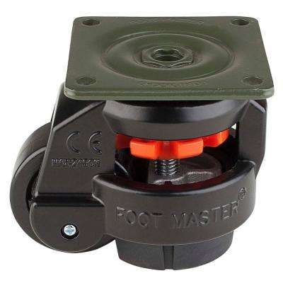 2 in. Nylon Wheel Top Plate Leveling Caster with Load Rating 550 lbs.
