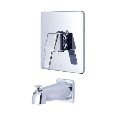 i3 1-Handle Wall Mount Tub Trim Kit in Polished Chrome (Valve Not Included)