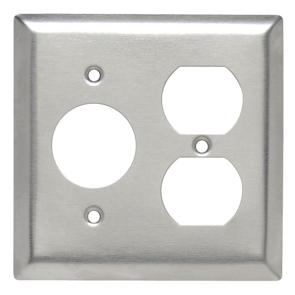 302 Series 2 Gang Single Receptacleduplex Combination Wall Plate