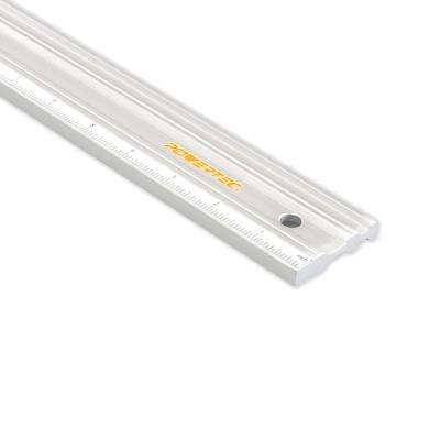 18 in. Anodized Aluminum Straight Edge Ruler Etched in Both Millimeter and Inch Calibrations