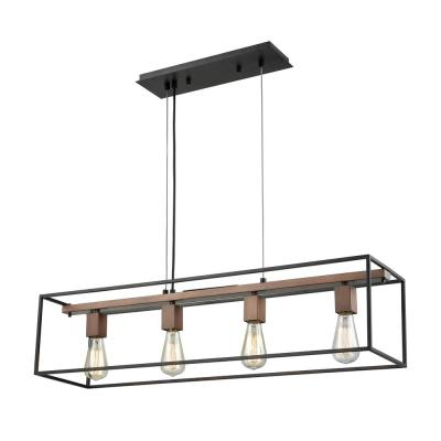 Rigby 4-Light Oil Rubbed Bronze and Tarnished Brass Chandelier