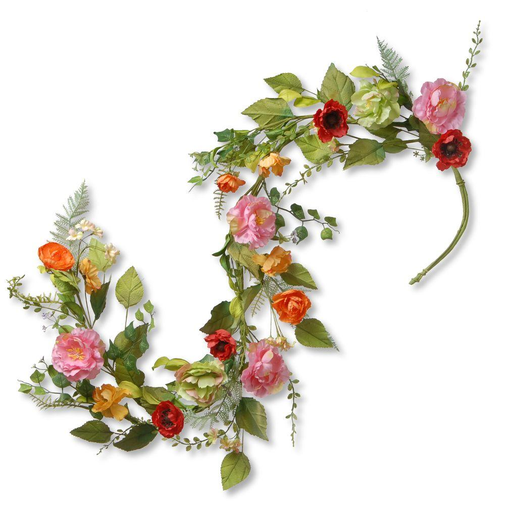 National tree company 5 ft spring flower garland ras 150329 1 the spring flower garland mightylinksfo
