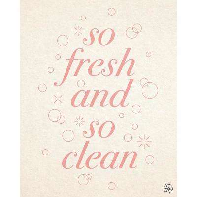 """16 in. x 20 in. """"Fresh And Clean Pink"""" Planked Wood Wall Art Print"""