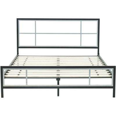 Lincoln Square Black Metal Queen Platform Bed