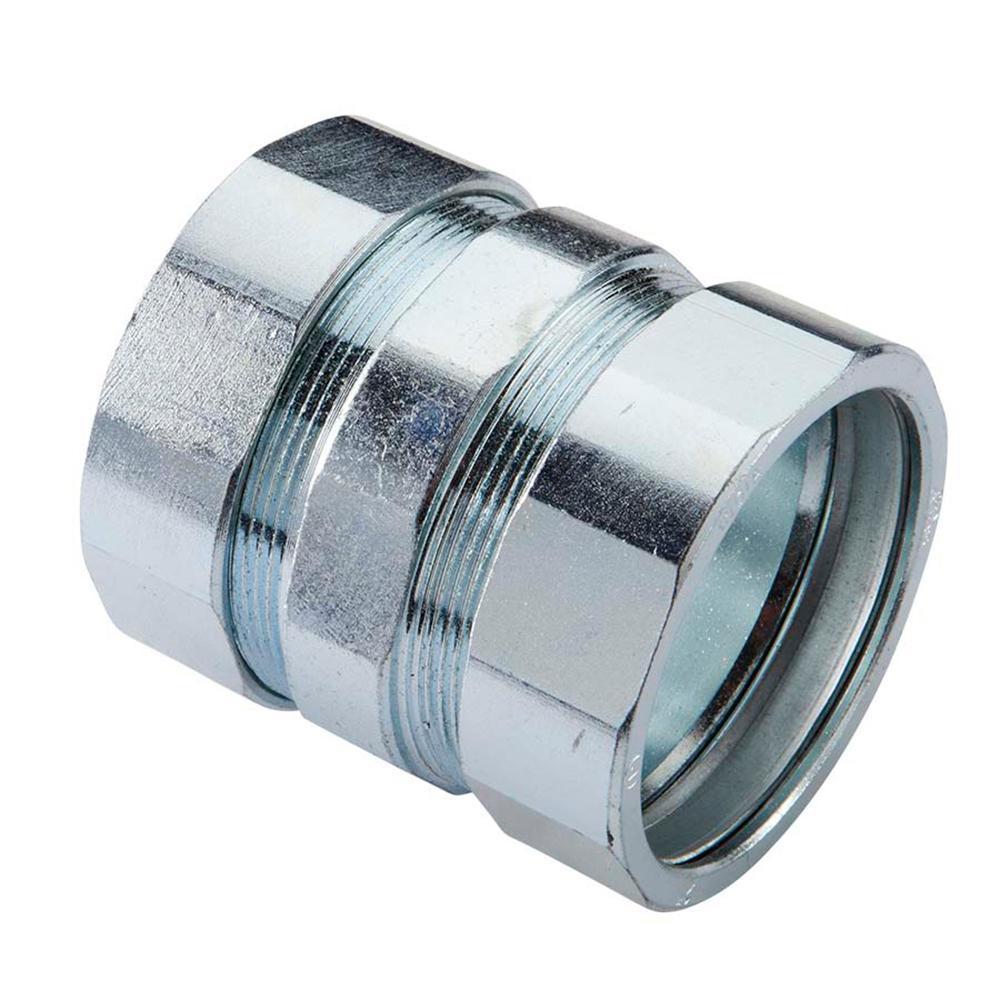 "Appleton 3//4/"" Compresson Coupling For EMT Conduit Galvanized Steel Lot of 15"