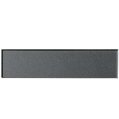 Secret Dimensions Gray 2 in. x 8 in. Glass Wall Tile (1 sq. ft. / pack)