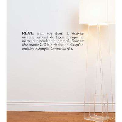 (31 in x 10 in) Reve (french) Wall Decal