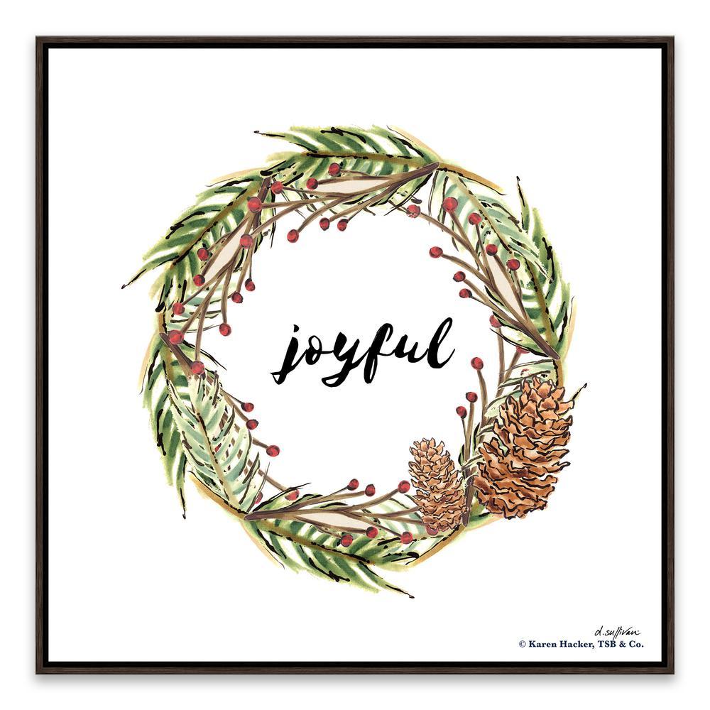 """Christmas Time - Joyful"" by Denise Sullivan Framed Canvas Wall Art"